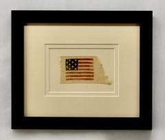 Rare Antique 10 Star American Flag Ribbon Virginia - 1355898