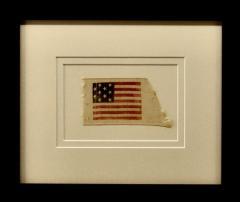 Rare Antique 10 Star American Flag Ribbon Virginia - 1355900