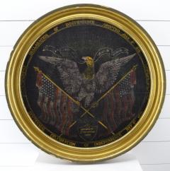 Rare Antique 1876 Patriotic Centennial Celebration Painting - 1977017