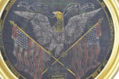 Rare Antique 1876 Patriotic Centennial Celebration Painting - 1977019