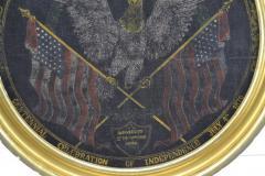 Rare Antique 1876 Patriotic Centennial Celebration Painting - 1977020