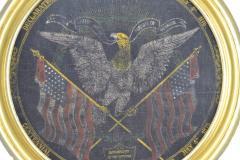 Rare Antique 1876 Patriotic Centennial Celebration Painting - 1977021