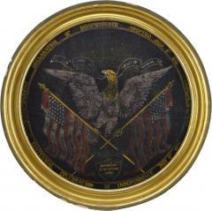 Rare Antique 1876 Patriotic Centennial Celebration Painting - 1977468