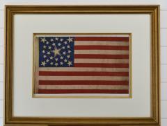 Rare Antique 30 Star American Flag with Rare Halo Star Arrangement - 1847730