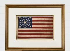Rare Antique 30 Star American Flag with Rare Halo Star Arrangement - 1847731