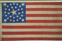 Rare Antique 30 Star American Flag with Rare Halo Star Arrangement - 1847733