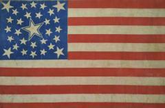 Rare Antique 30 Star American Flag with Rare Halo Star Arrangement - 1847734