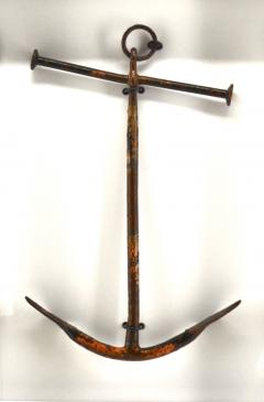 Rare Antique Hand Forged Iron Boat Anchor - 1845634