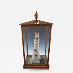 Rare Antique Mahogany cased Cork Model of a Lighthouse - 1056581