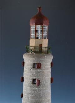 Rare Antique Mahogany cased Cork Model of a Lighthouse - 802213