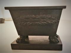 Rare Bronze Napoleon Inkwell Circa 1850 France - 2075176