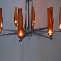 Rare Chandelier Petrolium Club Huston - 1348377