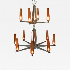 Rare Chandelier Petrolium Club Huston - 1349176