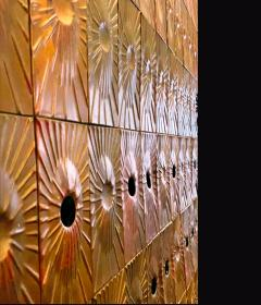 Rare Copper Wall Panelling Cladding by Edit Oborzil 1971 - 2042177