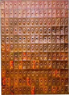 Rare Copper Wall Panelling Cladding by Edit Oborzil 1971 - 2044639