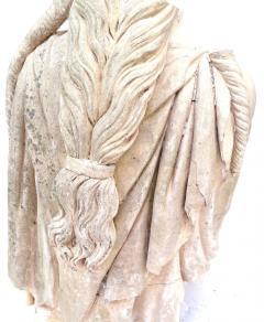 Rare Early 19th Century English Coade Stone Statue Torso of a Soane Caryatid - 547320