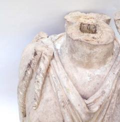 Rare Early 19th Century English Coade Stone Statue Torso of a Soane Caryatid - 547323