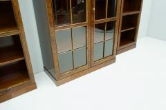 Rare Hans Hopfer Display Bookcase Cabinet Cherrywood WK Germany - 1847935