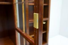 Rare Hans Hopfer Display Bookcase Cabinet Cherrywood WK Germany - 1847943