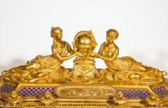 Rare Important French Ormolu Sevres Style Porcelain Jewelry Box on Bronze Table - 1007707