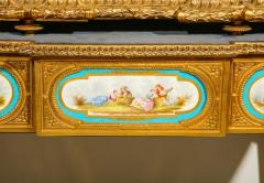 Rare Important French Ormolu Sevres Style Porcelain Jewelry Box on Bronze Table - 1007708