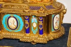 Rare Important French Ormolu Sevres Style Porcelain Jewelry Box on Bronze Table - 1007716