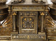 Rare Important Spanish Damascene Iron Steel Gold Inlaid Clock Eibar Spain - 1193032