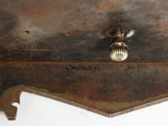 Rare Important Spanish Damascene Iron Steel Gold Inlaid Clock Eibar Spain - 1193035