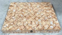 Rare Italian decorative wood Backgammon Game Board circa 1970 - 2111794