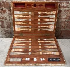 Rare Italian decorative wood Backgammon Game Board circa 1970 - 2111795