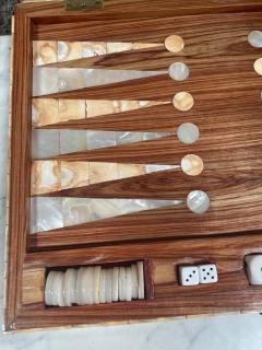 Rare Italian decorative wood Backgammon Game Board circa 1970 - 2111798