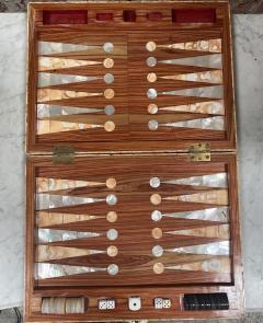 Rare Italian decorative wood Backgammon Game Board circa 1970 - 2111800