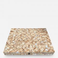 Rare Italian decorative wood Backgammon Game Board circa 1970 - 2112847