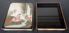 Rare Japanese Lacquer Writing Box Suzuribako Meiji Period - 2125487