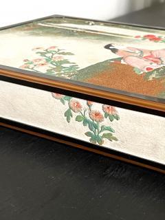 Rare Japanese Lacquer Writing Box Suzuribako Meiji Period - 2125497