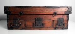 Rare Japanese Wood Chest Zenibako on Custom Stand - 1389581