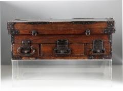 Rare Japanese Wood Chest Zenibako on Custom Stand - 1389583