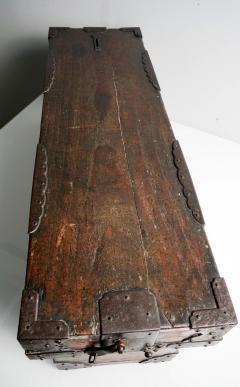 Rare Japanese Wood Chest Zenibako on Custom Stand - 1389585