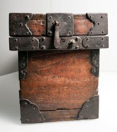 Rare Japanese Wood Chest Zenibako on Custom Stand - 1389587