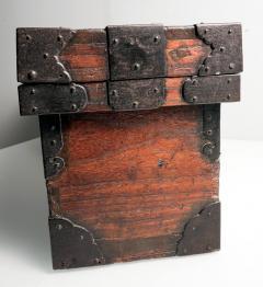 Rare Japanese Wood Chest Zenibako on Custom Stand - 1389588