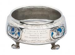 Rare LIBERTY Silver Enamel Rose Bowl Birmingham 1902 - 61174