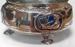 Rare LIBERTY Silver Enamel Rose Bowl Birmingham 1902 - 61175
