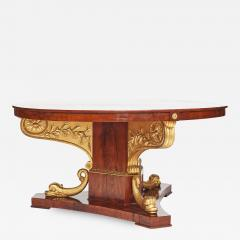 Rare Large Centre Table Late Empire Provinens Sperlingholm Castle Sweden - 902776