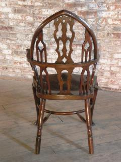 Rare Late 18th Century George III Gothick Yew Wood Windsor Chair - 670519