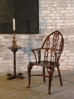 Rare Late 18th Century George III Gothick Yew Wood Windsor Chair - 670521