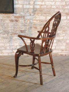 Rare Late 18th Century George III Gothick Yew Wood Windsor Chair - 670523