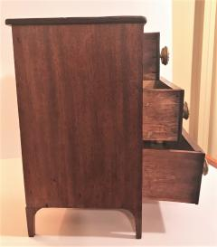 Rare Miniature Mahogany Federal 3 Drawer Chest Circa 1810 Mid Atlantic - 2075134