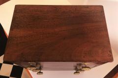 Rare Miniature Mahogany Federal 3 Drawer Chest Circa 1810 Mid Atlantic - 2075136