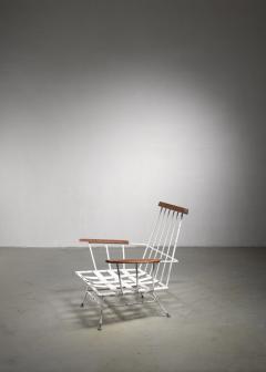Rare Minimal Wrought Iron Lounge Chair - 1449988