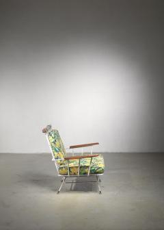 Rare Minimal Wrought Iron Lounge Chair - 1449989